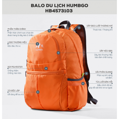 Balo du lịch thể thao Humbgo HB4573103 cao cấp